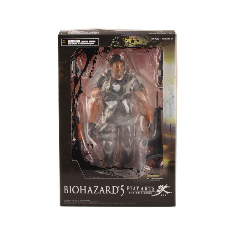 PLAY ARTS KAI Biohazard 5 Resident Evil 5 Chris Redfield PVC Action Figure Collectible Model Toy halo 5 guardians play arts reform master chief action figure