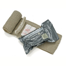 Security Protection - Emergency Kits - Ever Ready Bandage Battle Dressing Outdoor Tactical Emergency First Aid Compression Bandage 4 Inches Vacuum Packaging 10 Pcs/lot