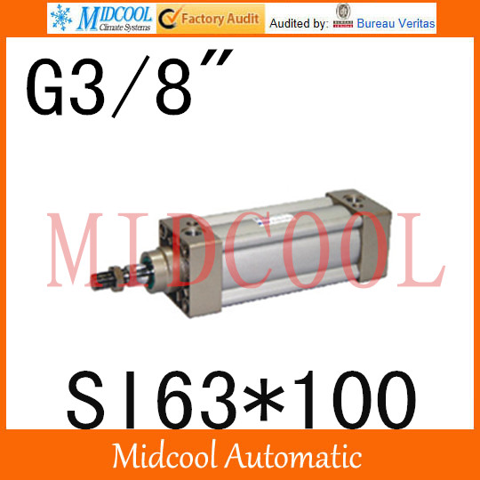 SI series ISO6431Standard cylinder SI63*100 port 3/8 bore 63mm Adjustable cylinder si series iso6431standard cylinder si160 200 port 3 4 bore 160mm adjustable cylinder
