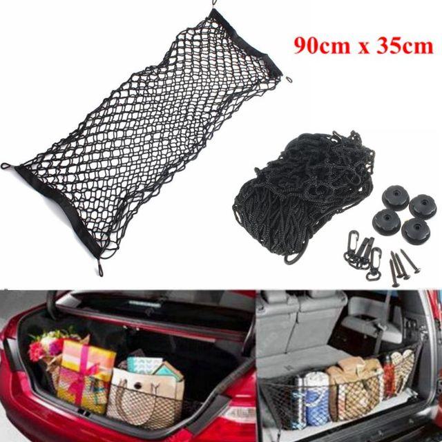 90x35 Cm Elastische Auto Mesh Cargo Net Met 4 Plastic Haken Auto