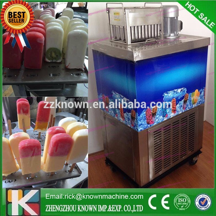 Stainless steel commercial automatic ice-cream/ lolly popsicle stick making machine with 4 moulds good feedback high quality machine for popsicle ice lolly machine