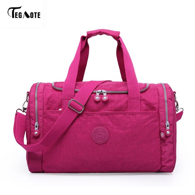 TEGAOTE fashion nylon women bag large capacity casual women travel bags