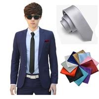 Comercio al por mayor 5 cm Corbata Para Hombre Caballero Flecha Empate Gravata Corbatas Formales Del Banquete de Boda de Color Sólido Delgado 35 Color TZLJb