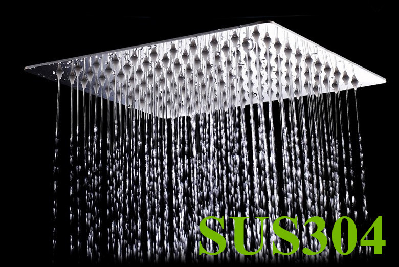 Free Shipping 10 inch perfect new square bathroom 304 stainless steel rain shower head TH015
