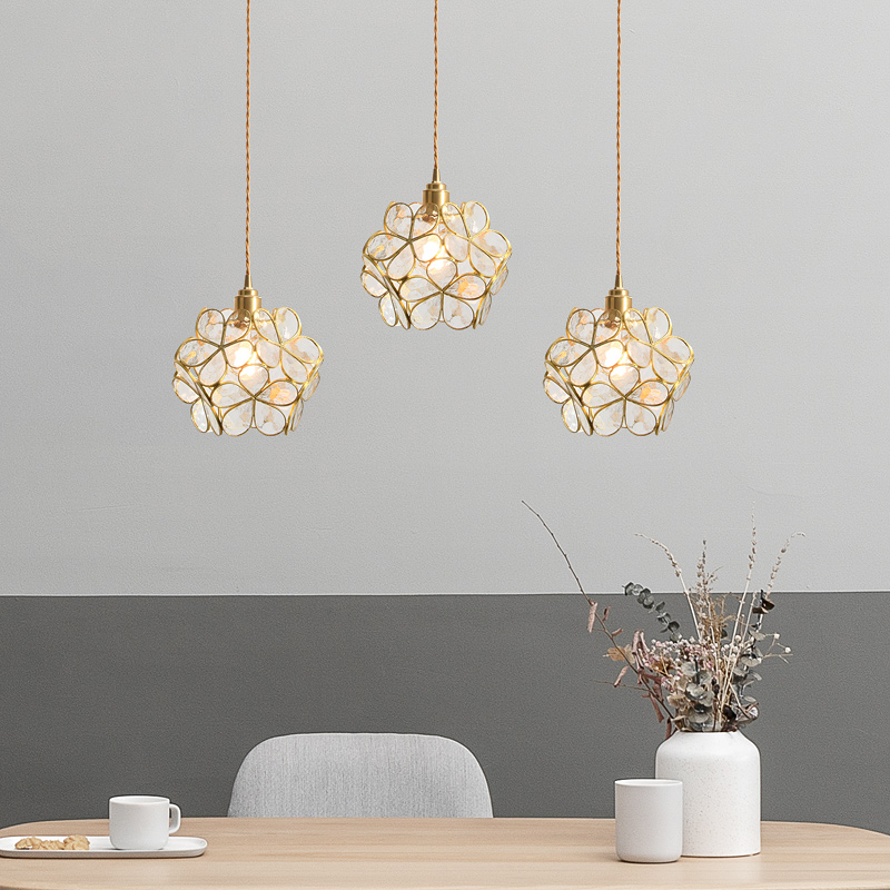 Modern Pendant Ceiling Lamps Copper LED Pendant Lights Pending Lighting Living Room Dining Room Children's Room Hanging Light