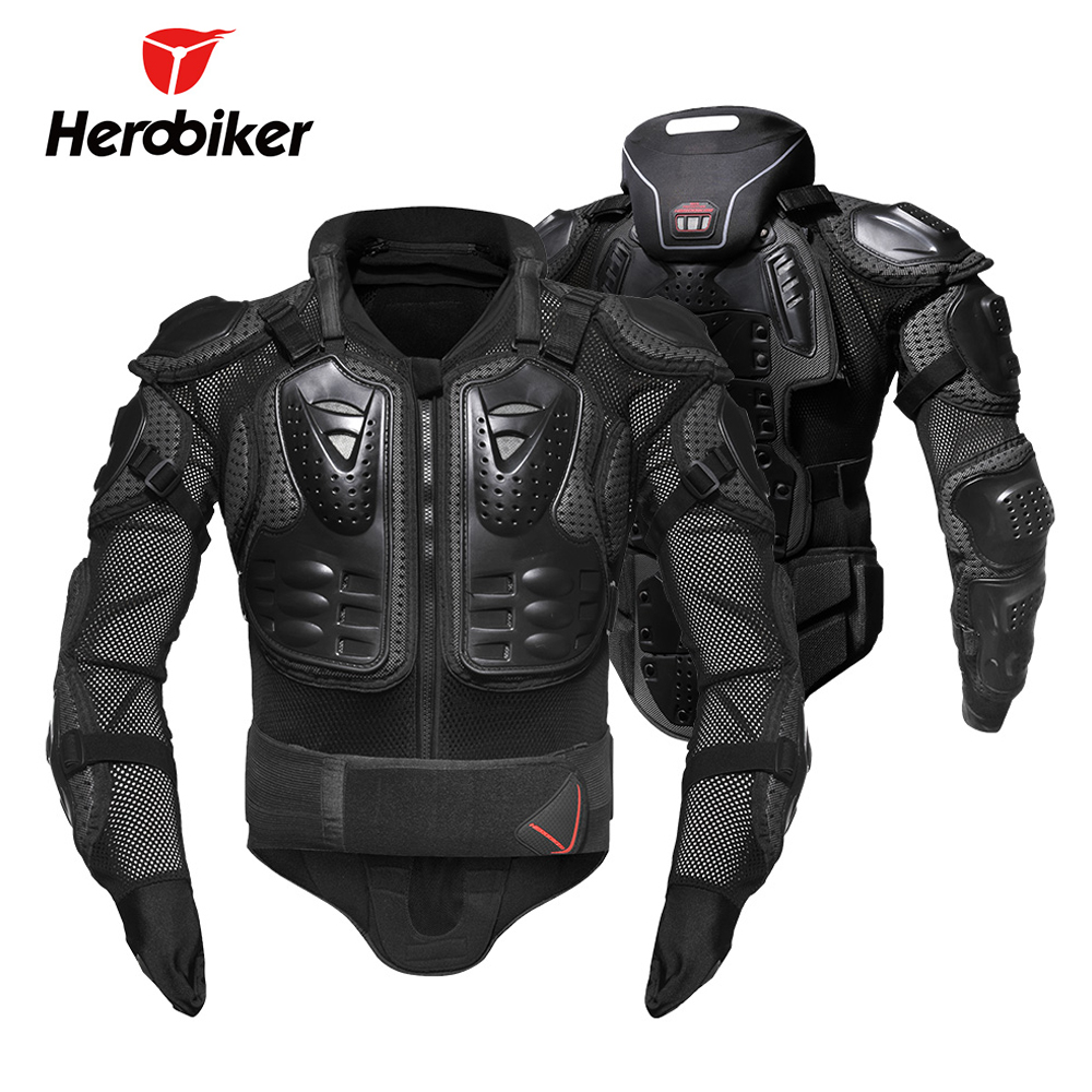 HEROBIKER Motorcycle Jacket Men Armor Motorcross Jacket Protective Gear Body Armor Protectors Removable Neck Protection Guards herobiker motorcycle jackets men motorcycle armor protection body protective gear motocross motorbike jacket with neck protector