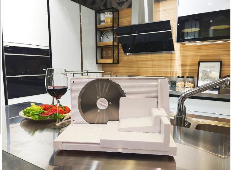 Acier inoxydable de viande électrique de ménage de 110 V/220 V + coupeur de nourriture de protection de sécurité de trancheuse de pain d'abs