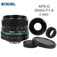 Камера объектив 50 мм f1.8 APS-C многослойным покрытием фильм объектив + C крепление для SONY E крепление A6500 A6300 A6100 A6000 NEX-7 NEX-6 NEX-F3 NEX-5T