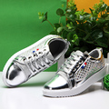 2016 New Fashion Women Casual Sequin Round Toe Skate Shoes Creepers Flats Basket Femme Tenis Feminino Trainers Espadrilles