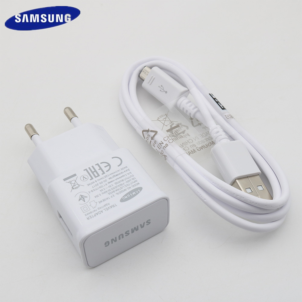 Original for Samsung Galaxy USB 5V 2A Charger EU US Wall Adapter 1M/1.5M Micro Usb Cable