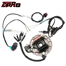 TDPRO Ignition CDI Box Coil Magneto Stator Wire Harmess Kill Switch Spark Plug Fit 50cc 70cc 110cc 125cc 140cc 4-Stroke Dirtbike