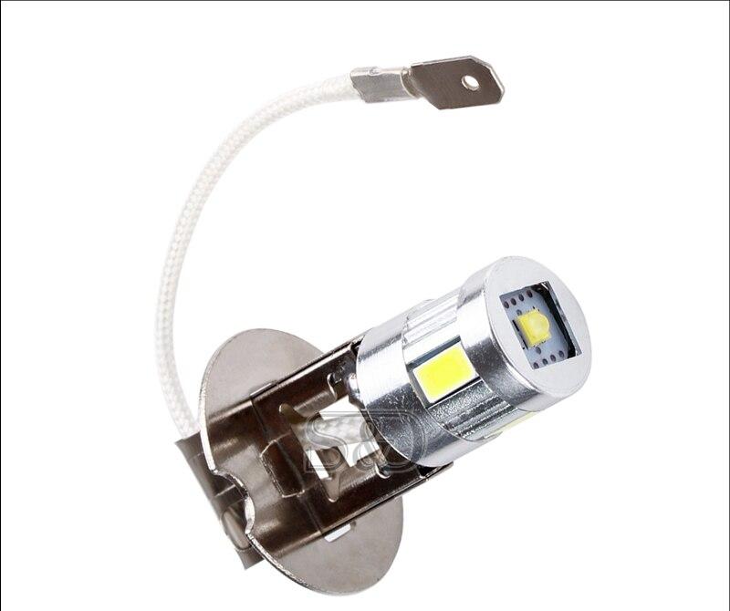 H3 светодиодные лампы Противотуманные фары Дневные Фары Лампы LED светодиодные лампы высокой мощности 5630 SMD вождения авто светодиодные лампы источник света автомобиля Парковка 12V 6000 К Глава лампы D030