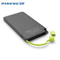 Original 5000mAh PINENG Mobile Power Bank Fast Charging External Battery Portable Charger Li Polymer Battery For