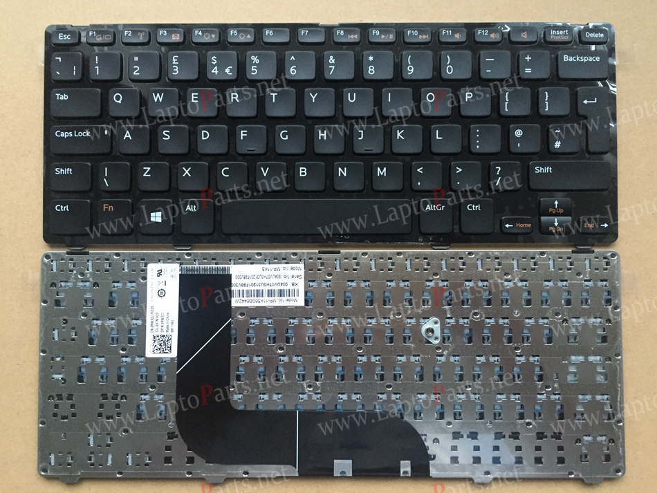 UK Keyboard For DELL 13Z-5323 Inspiron V3360 5423 14z-5423 14Z 3360 1618l N411Z 5323 Vostro Layout Laptop keyboard