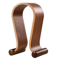 Wooden Headphone Stand Headphone Holder Headset Hanger Headset Rest For All Headphone Size In Brich Brown