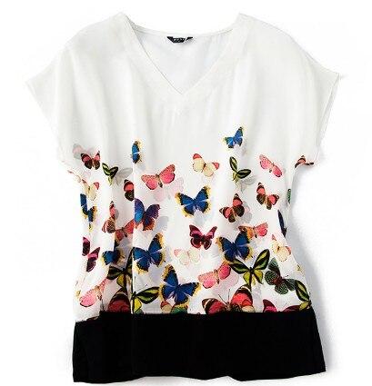 2019 nouveau design original mûrier soie positionnement papillon volant col en V manches chauve-souris chemise
