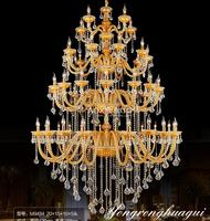 30 To 50 Lights Large Led Candle Holders Chandeliers For Church Star Hotel Crystal Lighting Art