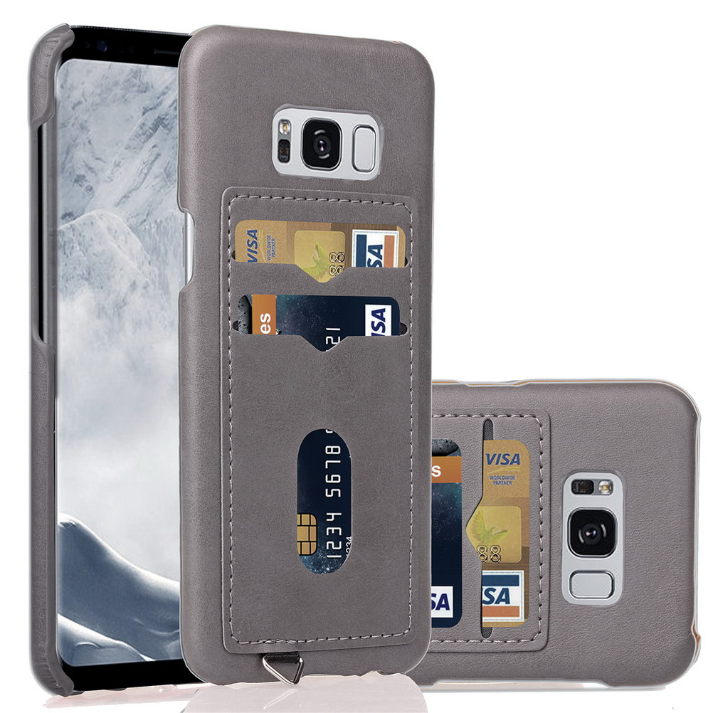2-Layer Business Credit Pocket For Samsung Galaxy S10 S9 S8 S7 Case ID Card Holder Slim Case For Samsung Note9 S7 Edge S10+ S10E