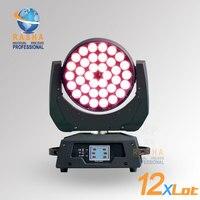 12pcs/LOT High Quality 36pcs*10W 4in1 Zoom RGBW LED Movign Head Wash Light Stage Lighting DJ Club Event