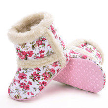 2017 lovely children shoes new winter Cuihua cotton boots warm baby factory direct thickening