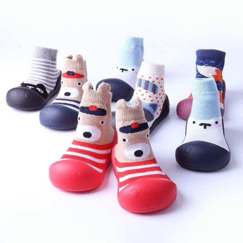 2019 Spring And Autumn Cartoons Cotton Anti-slip Baby Socks Babe Footwear Floor Socks For Children Toddler Girl Shoes Kids Socks