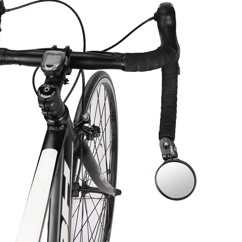 Bike Rear View Mirror Adjustable Reflective Bicycle Handlebar Grip Rearview Glass