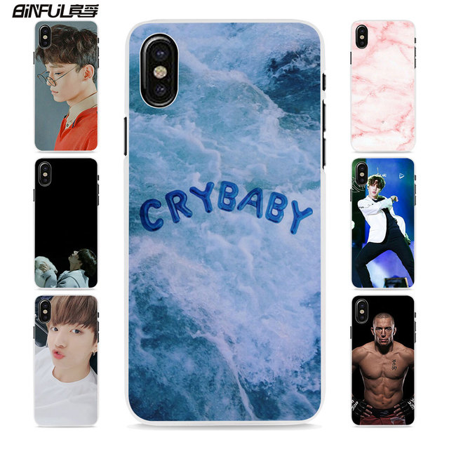 wholesale dealer 5f14c d77d0 US $2.99 |BiNFUL Aesthetic girl cry baby style hard White Skin phone Case  Cover for Apple iPhone 8 8Plus X 6 7 7Plus SE 6sPlus 5 5s-in Half-wrapped  ...