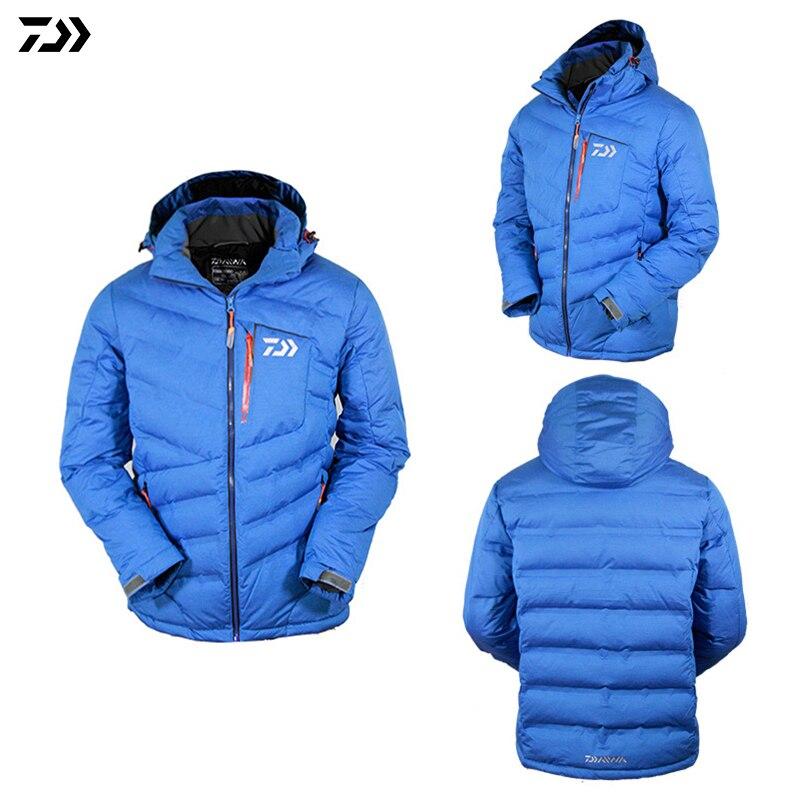 DAIWA automne hiver pêche vers le bas veste manteau vêtements blanc canard vers le bas garder au chaud respirant coupe-vent imperméable veste de pêche