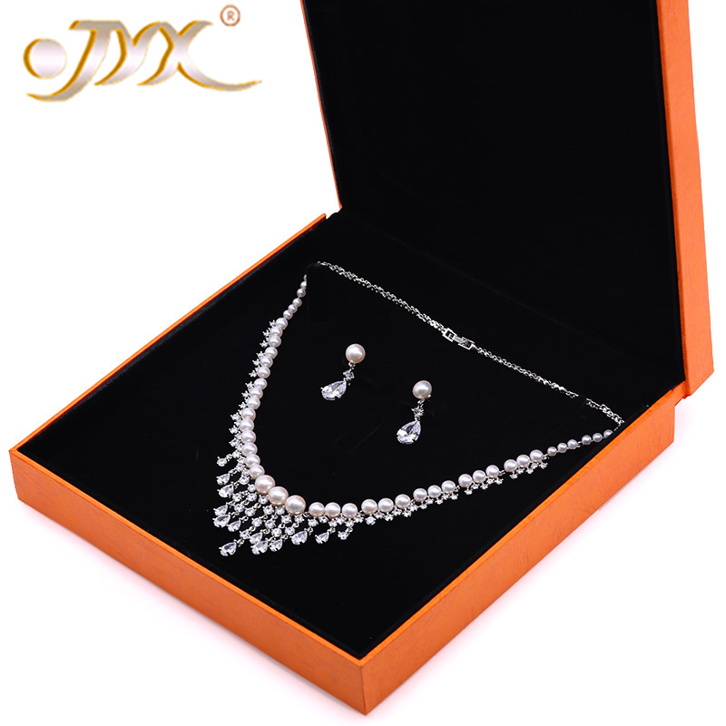 JYX Pearl Wedding Jewelry Set 3.5-7.5mm White Flat Round Freshwater Pearl Necklace & Earrings Set 17.5 jyx pearl wedding jewelry set 7 7 5mm white flat round freshwater pearl necklace