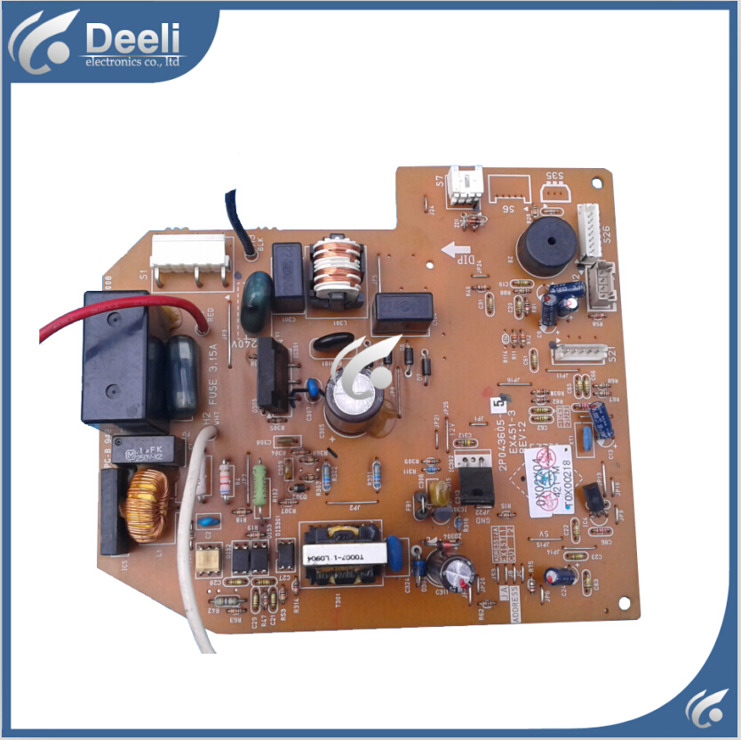 95% new good working for Daikin air conditioning air duct machine computer board motherboard 2P043605-5 EX451-3 REV:2 sale good working 95% new original used for daikin inverter air conditioner power filter board vrv3 rhxyq16py1 fn354 h 1 board