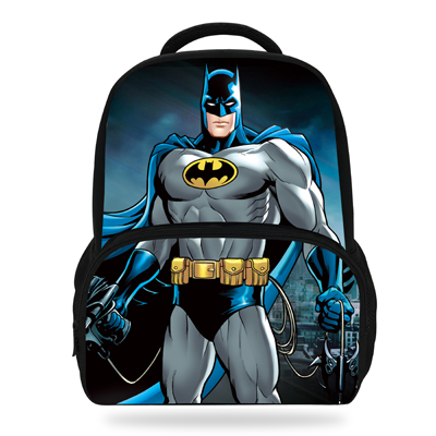 6e4cef48a1 14Inch Hot Sale Children Boys Girl Cartoon Backpack The Avengers Batman  Backpacks For Kids School Teenagers