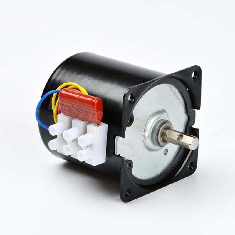 220v/28W  Gear Motor  2.5RPM-100RPM AC synchronous motor,High torque gear motor, AC Low Noise Gearbox Electric Motor 68 KTYZ