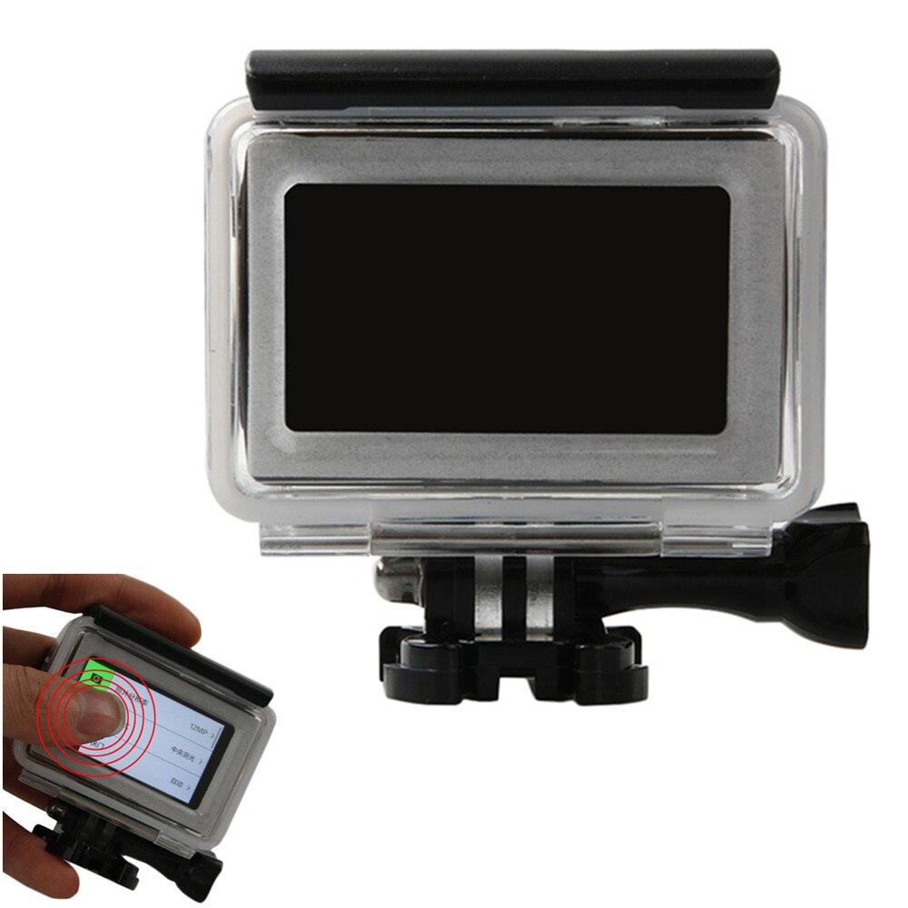 Dotykové vodotěsné pouzdro pro Xiaomi Yi 4k 45m yi 4k fotoaparát chránič potápěčské pouzdro pouzdro pro Xiaomi YI 2 II příslušenství