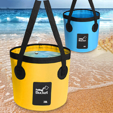 20L PVC Waterproof Water Bags Fish Fishing Folding Bucket Portable Bucket Water Container Storage Carrier Bag for Hiking Camping цены