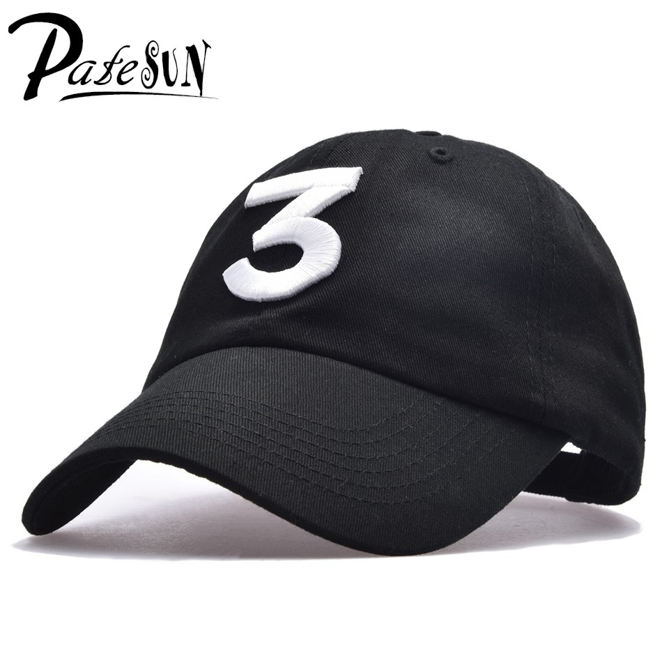 PATESUN Chance 3 Rapper Baseball Cap 424 Letter Embroidery Snapback Caps Men Women Hip Hop Dad Hat  Street Fashion Gothic gorro