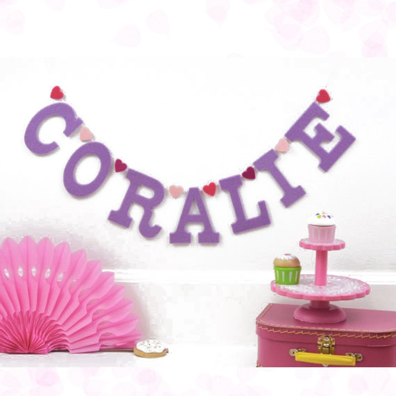 Personalised 1st Birthday Party Banner Baby Name Letter