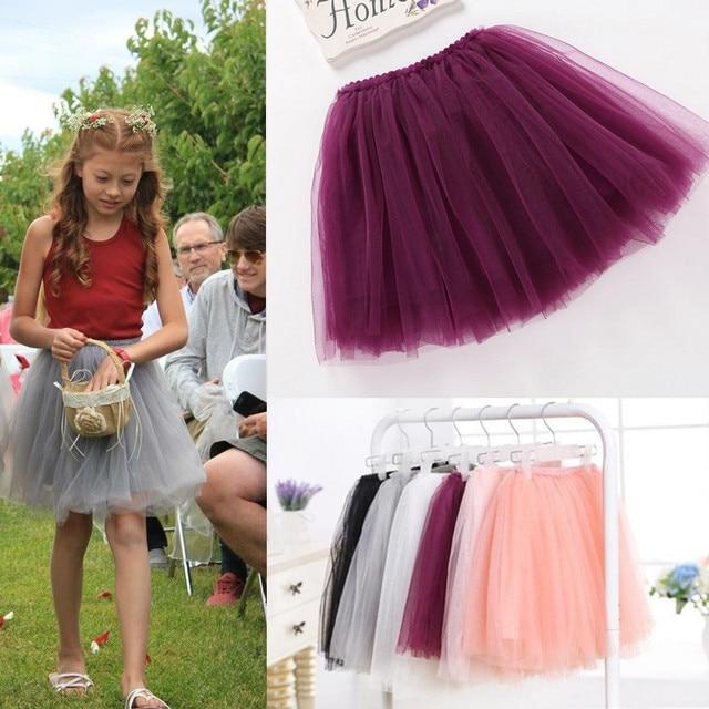 Мать дочь clothesnew лето прекрасный пушистый мягкий тюль девушки юбки pettiskirt 8 цвета девушки юбки для 1-10Y дети