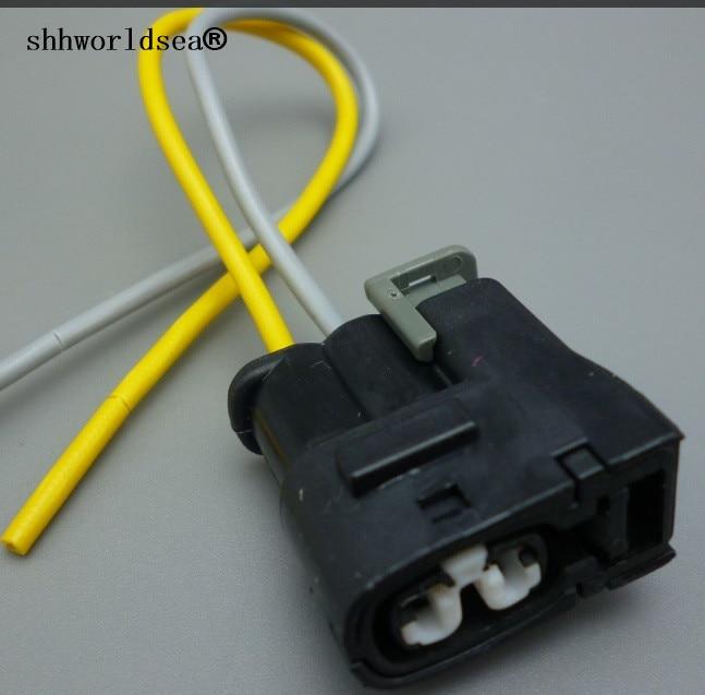 Shhworldsea 1pcs  2 Pin Way Car Auto Female Waterproof Plug 2pin Automotive Electrical Connector 7283-8226-30 90980-11246