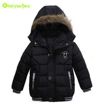 Baby Boys Jacket 2018 jesień zimowa kurtka dla dzieci kurtka dziecięca Bluza z kapturem ciepłe kurtki płaszcz dla chłopca ubrania 2 3 4 5 rok tanie i dobre opinie Odzież wierzchnia i Płaszcze Chłopców Z KEAIYOUHUO Pełne Poliester bawełna Czesankowa Hooded Pasuje do rozmiaru Weź swój normalny rozmiar