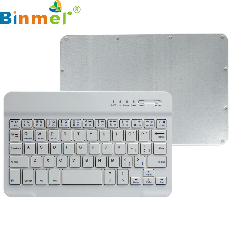 O 2017 de Haute Qualité Ultra Mince En Aluminium Sans Fil Bluetooth Clavier Pour IOS Pour Android Windows PC en gros