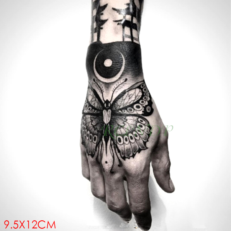 Waterproof Temporary Tattoo Sticker Insect Moon Butterfly Fake Tatto Flash Tatoo Hand Arm Art Tattoos For Girl Women Men