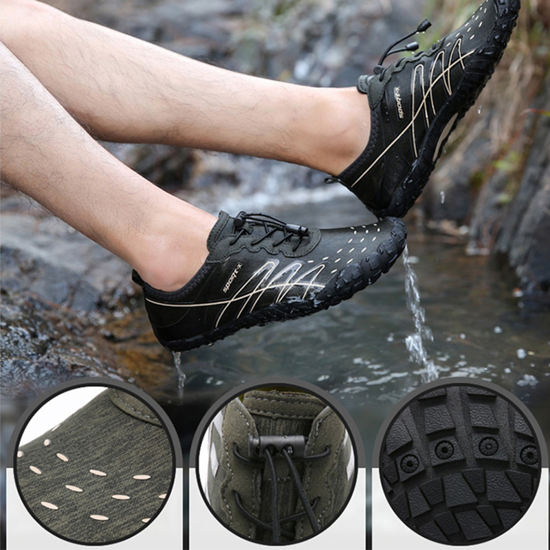 New Summer Men Water Shoes Outdoor Beach Shoes Breathable Upstream Barefoot Sneakers Aqua Shoes Swimming Diving Fishing Sandals in Upstream Shoes from Sports Entertainment
