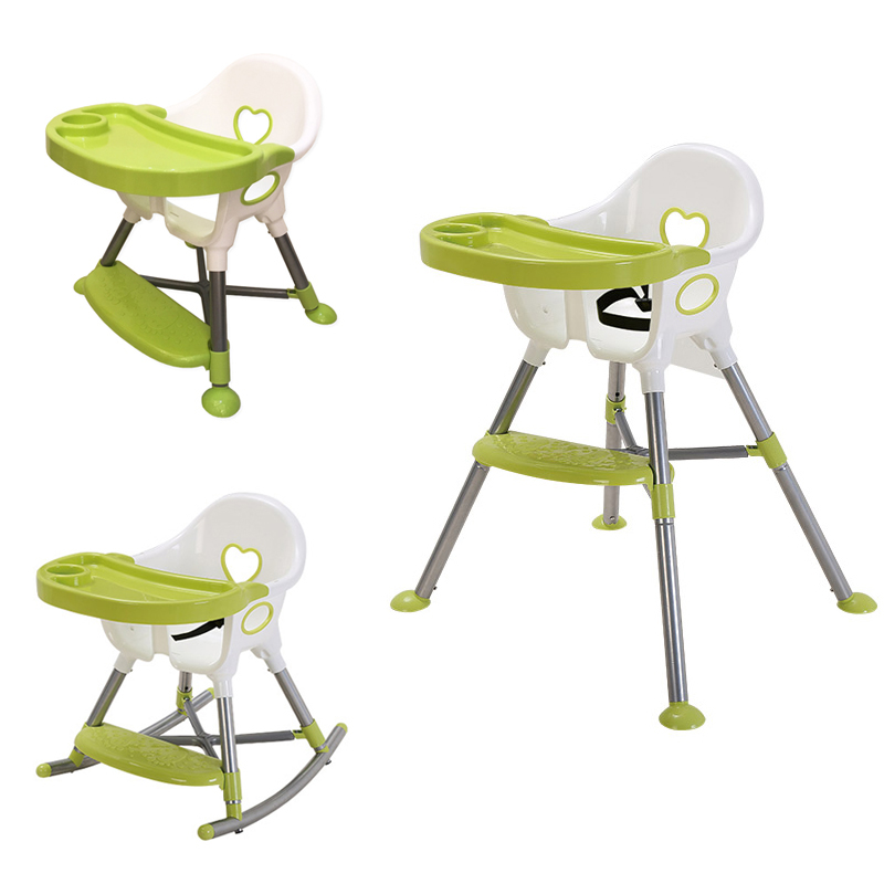 3 in 1 Baby High Chair, Convertible Cradle Booster Seat, Toddler Feeding Highchair, height can adjust feed chair with steel pipe3 in 1 Baby High Chair, Convertible Cradle Booster Seat, Toddler Feeding Highchair, height can adjust feed chair with steel pipe
