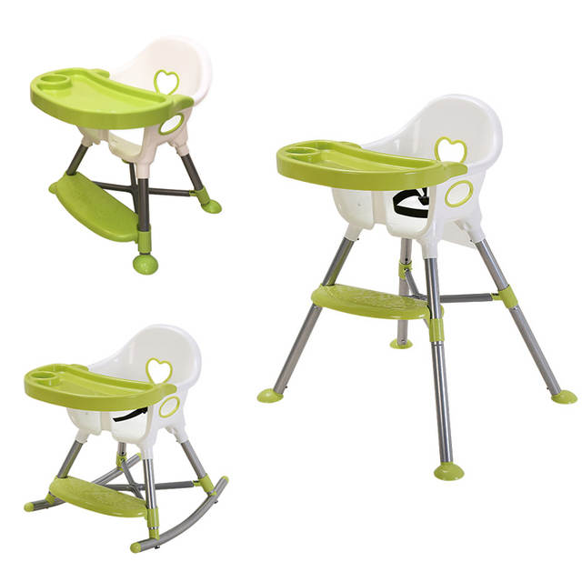 3 In 1 Baby High Chair Convertible Cradle Booster Seat Toddler