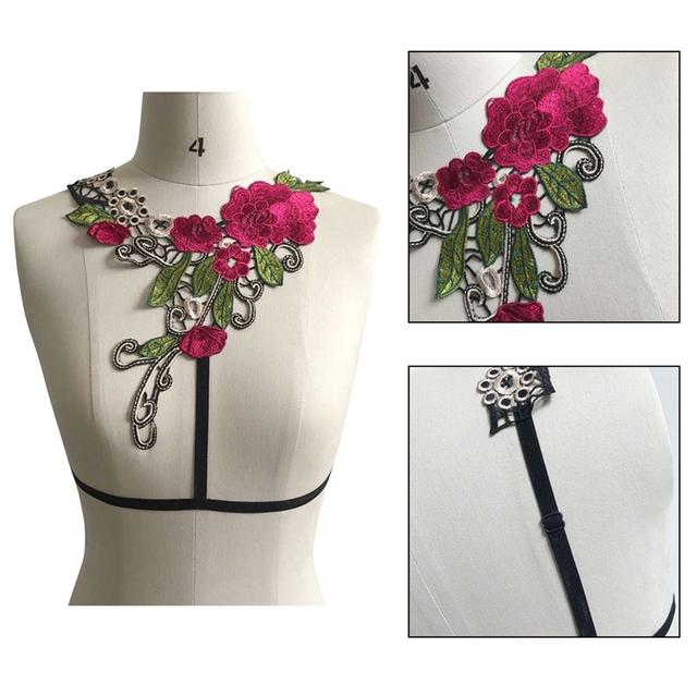 2017 new goth bust elastic bondage Rave wear Binding garterbelt sexy women caged bust bondage lingeries bondage belt