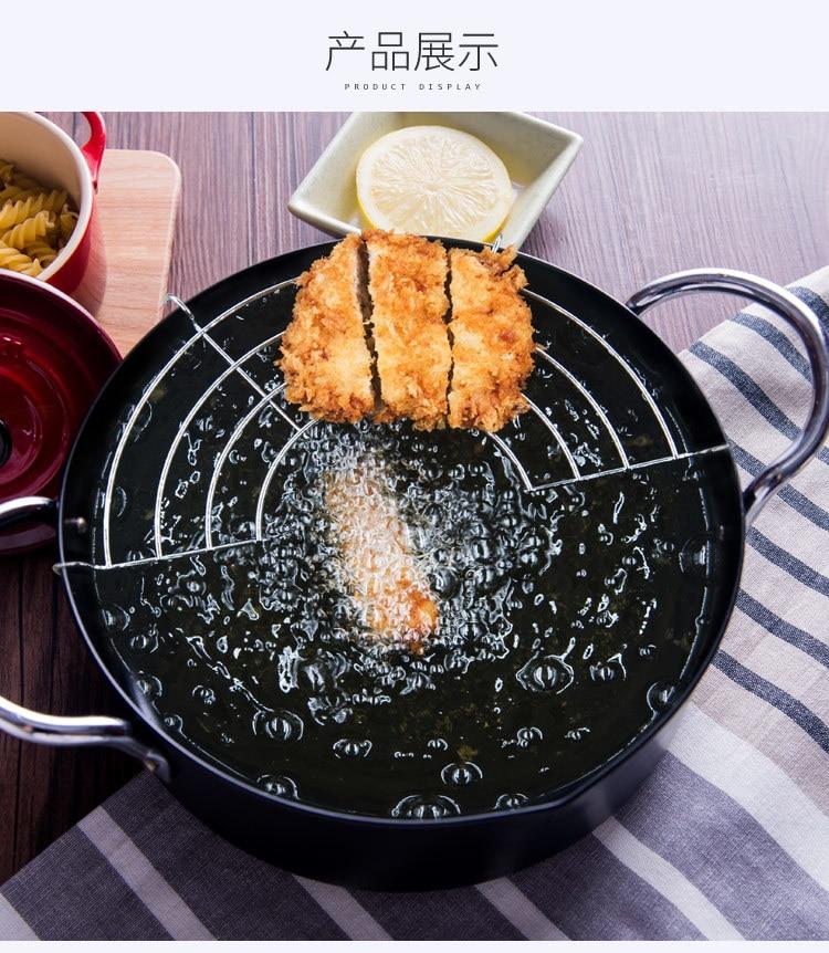 20cm japonês frito tempura pot para casa