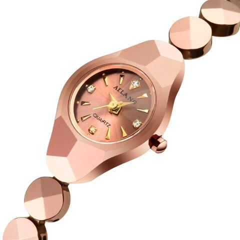 Relógio de Pulso Delicado Bonito Feminino Tungstênio Aço Pulseira Relógios Ailang Verão Rua Moda Vestido Elegante W029 21mm