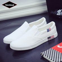 British Style Canvas Shoes Men Summer 2019 Breathable Men's Footwear Casual Shoes Man Loafers Plus Size 44 45 46 47