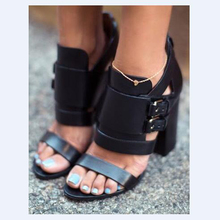 2017 Promotion High Heel Sandal Buckle Strap Gladiator Sandals Top Selling Wedding Party Summer Dress Shoes Women