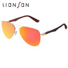 LianSan Retro Aviator Polarized Aluminium Sunglasses Men Luxury Brand Designer Frame Anti UV Driving Sun Glasses LSP803T